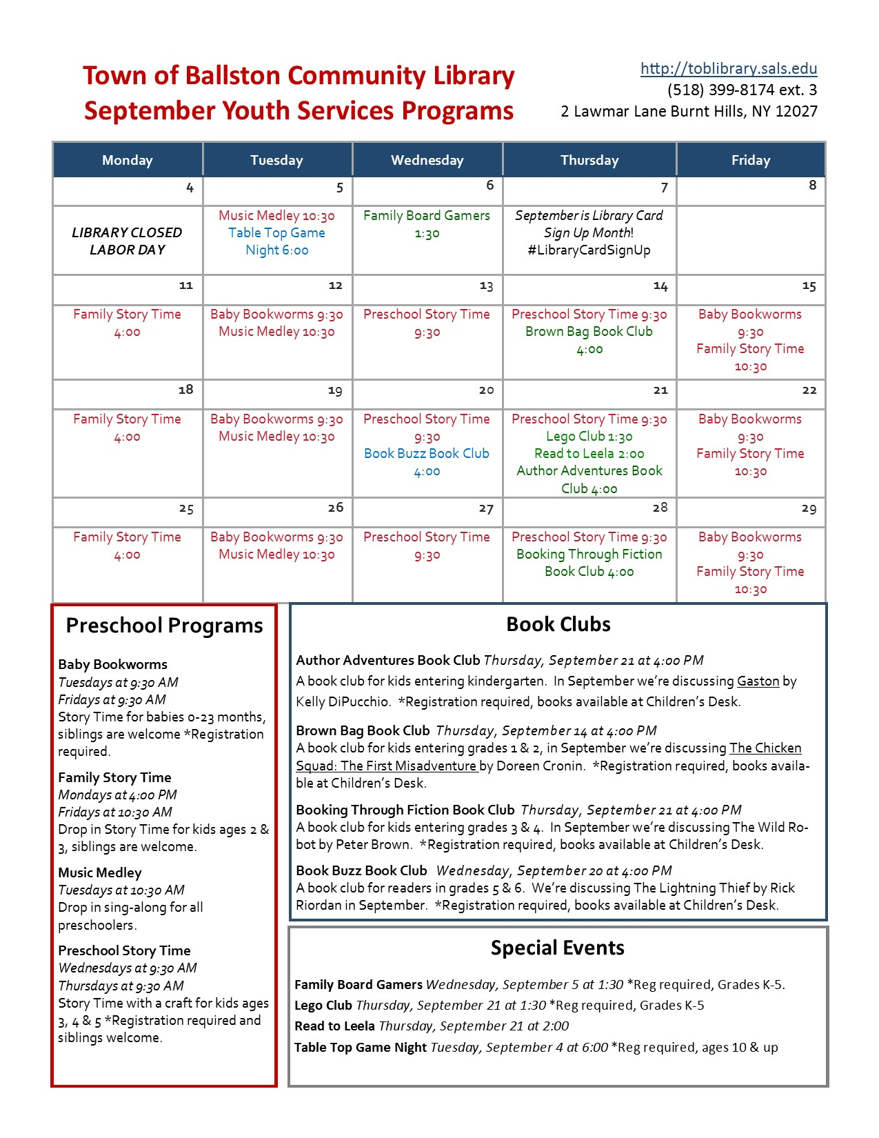 Fall 2017 Brochure Page 2