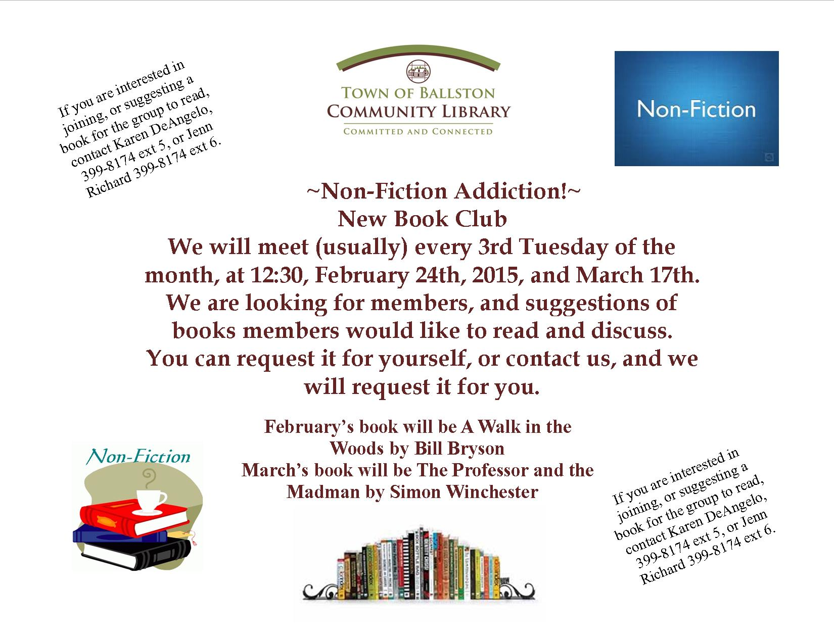 Non fiction book club flyer updated