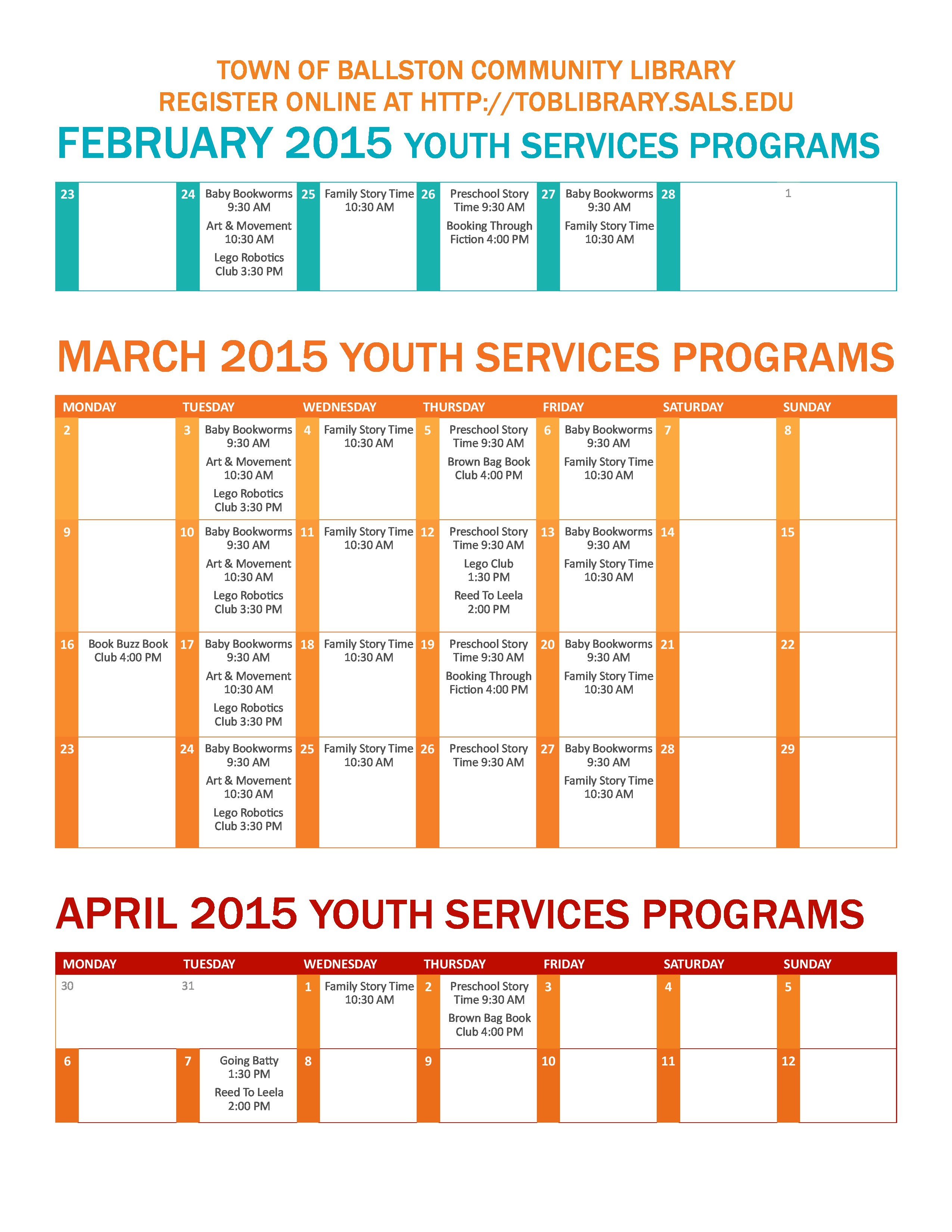 Youth Services Schedule Fall 2014 calendar page-page-9