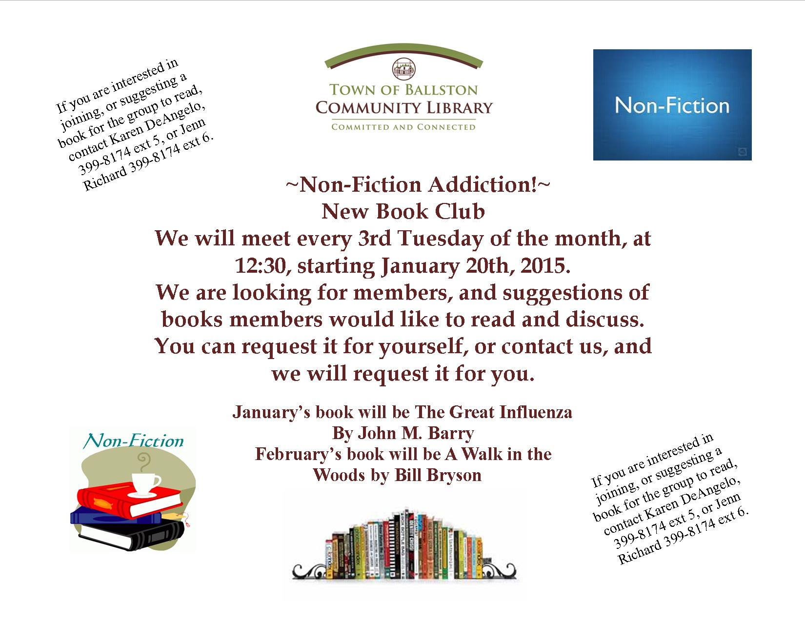 Non fiction book club flyer