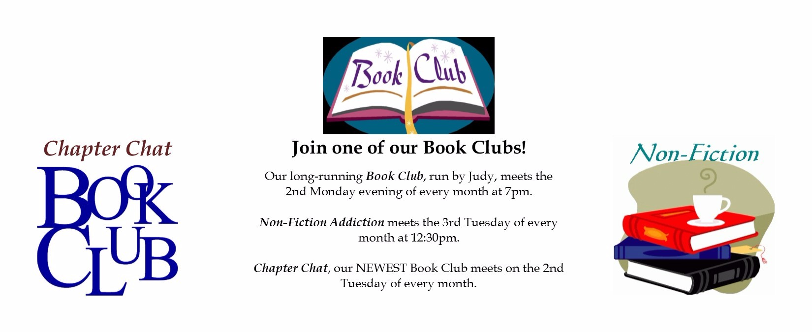 Generic advertisement new book club